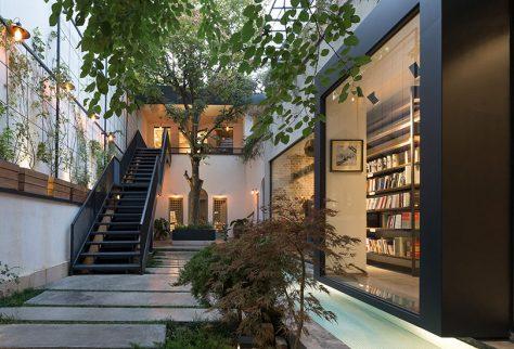 خانه فرهنگ رایزن / مانلی افشنگ، مهفام کوشش: رتبه اول گروه بازسازی ساختمانهای عمومی دهمین جایزه معماری داخلی ایران