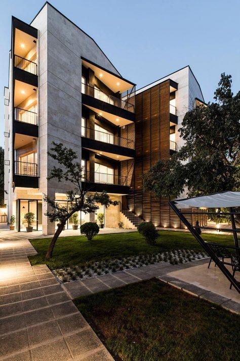 آپارتمان 111، البرز / مهندسان مشاور نگین شهر آینده (علی نقوی نمینی): رتبه دوم مشترک گروه مسکونی آپارتمانی جایزه معمار 1396