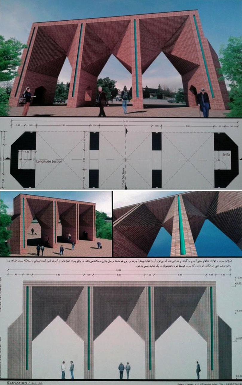Winners of Sharif Technology University Entrance Gate Competition
