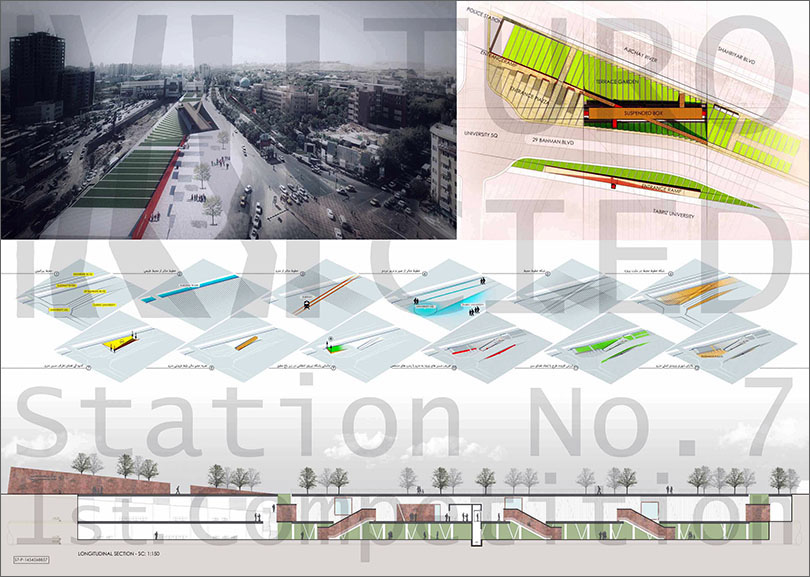 Winners of Tabriz No. 7 Metro Station Competition