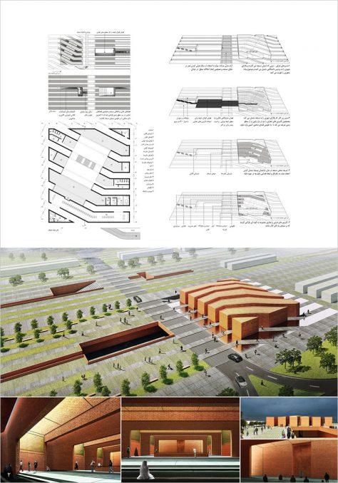 مرحله اول مسابقه طراحی مسجد و میدان ( پلازا) گلشهر کرج / طرح برتر و راهیافته به مرحله دوم: محسن کاظمیانفرد