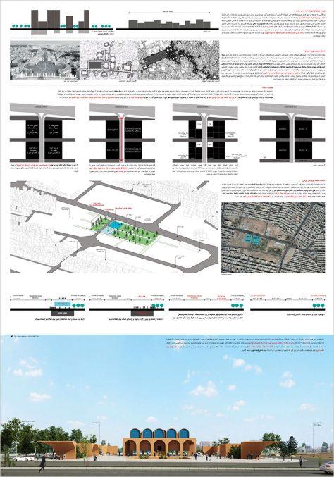 مرحله اول مسابقه طراحی مسجد و میدان (پلازا) گلشهر کرج / طرح برگزیده: حمیدرضا گذریان