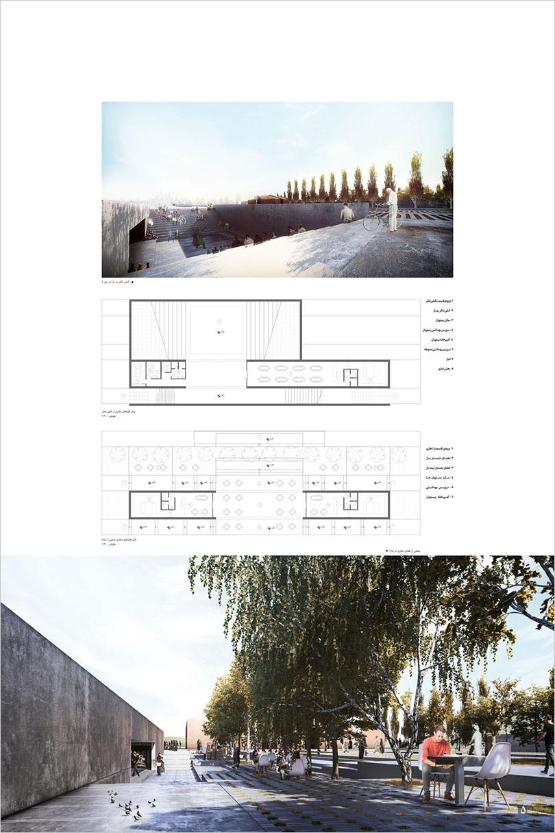 مرحله دوم مسابقه طراحی مسجد و میدان (پلازا) گلشهر کرج / رتبه نخست: محسن کاظمیانفرد