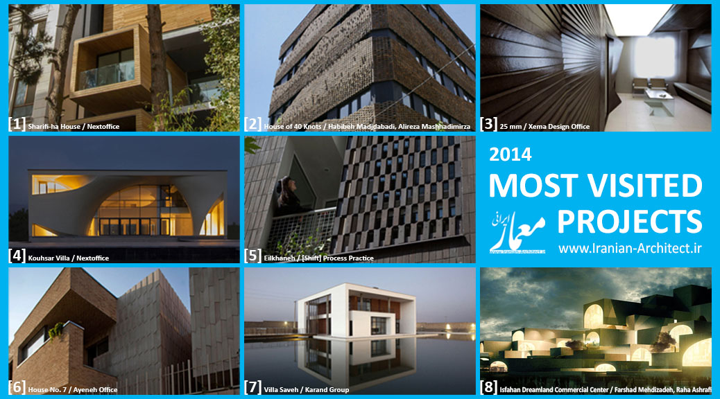 Iranian Architect's Most Visited Projects of 2014