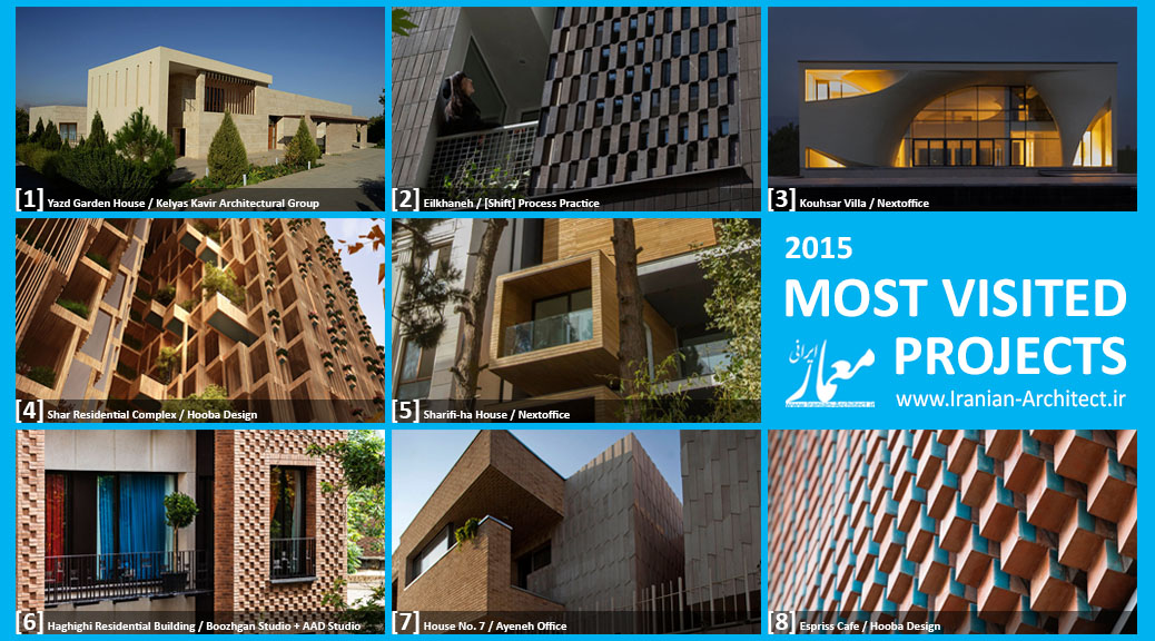 Iranian Architect's Most Visited Projects of 2015