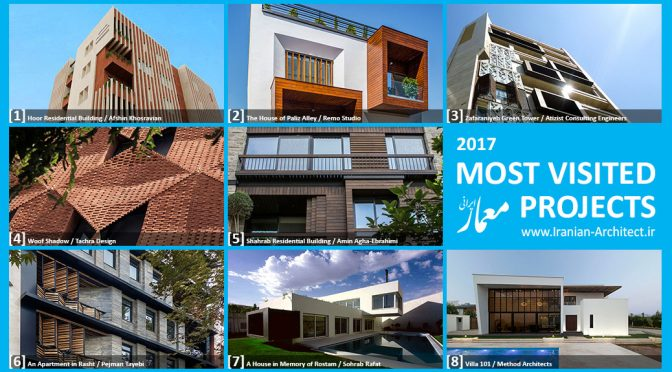 Iranian Architect's Most Visited Projects of 2017