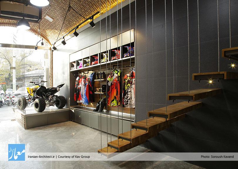 فروشگاه موتورسیکلت درسرا / گروه معماران کاو