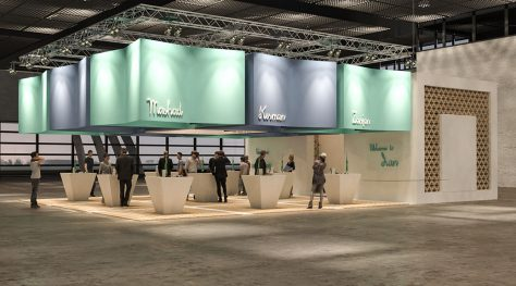 Iran Pavilion for International Tourism Exhibitions 2018 / Reza Amiri